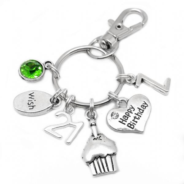 21st Happy Birthday Cake Keyring Personalised Gift For 21 Year Old